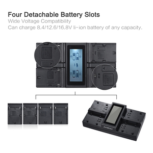 Image 4 - Andoer LP E6 LP E6N 4 Channel Digital Camera Battery Charger LCD Display for Canon EOS 5DII 5DIII 5DS 5DSR 6D 7DII 60D 80D 70D