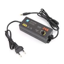Регулируемый адаптер питания с цифровым дисплеем напряжения 3 V-12 V 5A EU Plug Прямая поставка поддержка