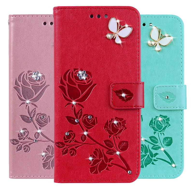 3D Flower Leather <font><b>Case</b></font> for <font><b>Oneplus</b></font> One Plus + 7 Pro 1 <font><b>2</b></font> 3 3T 5 5T 6 6T X Soft Flip <font><b>Wallet</b></font> Phone Cover <font><b>Case</b></font> image