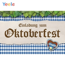 Yeele Oktoberfest Party Photocall Retro Beer Cloth Photography Backdrops Personalized Photographic Backgrounds For Photo Studio