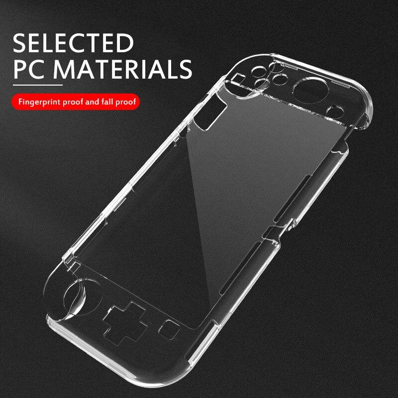 Afneembare Crystal Pc Transparante Case For A Nintend Schakelaar Schakelaar Gevallen Hard Clear Cover Shell Ultra Dunne Tas