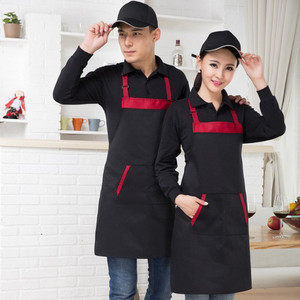 Moda hombres mujeres cocina restaurante babero de chef delantal vestido con bolsillo