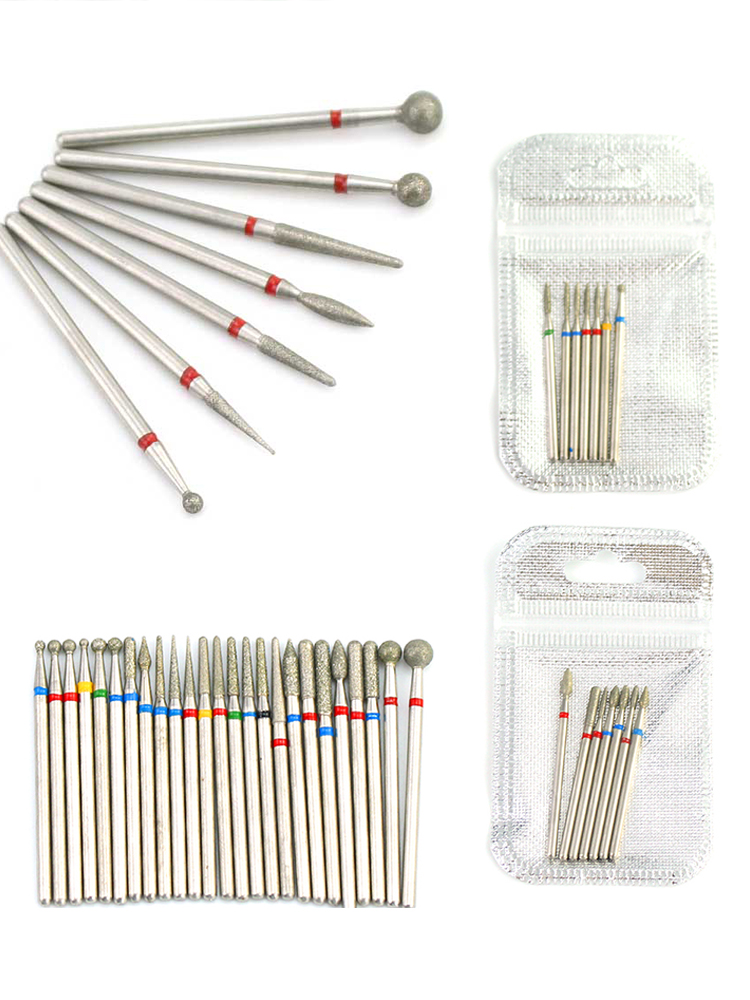 Nail-Drill-Bit Files Nail-Tools-Accessories Pedicure Cuticle-Burr Milling-Cutters Diamond