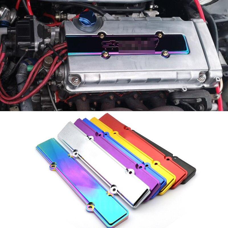 1PCS Aluminum ENGINE Spark Plug Cover B-Serie For Honda Civic ACURA DOHC VTEC  B16 B18 With Logo