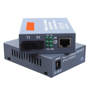 Image 1 - 1 paar HTB 3 100 Optical Fiber Media Converter SC 10/100M Singleeinzelfaser Fiber Transceiver Einzelne Faser converter 25km
