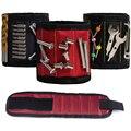 1 шт. магнитный браслет, ручная обертка, сумка для инструментов, браслет для винтов на запястье электрика для домашнего ремонта (три ряда, 6 ма...
