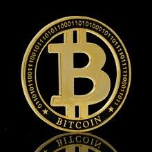 Позолоченные полые Bitcoin бит BTC металлические антикварные Коллекционные сувениры вызов невалютных памятная монета