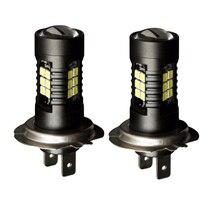 2x عالية الطاقة H7 9005/HB3 9006/HB4 H8/11 سيارة الضباب أضواء السيارات 21SMD 3030 لمبة إضاءة مصباح قيادة DRL 12 30 فولت الأبيض اكسسوارات