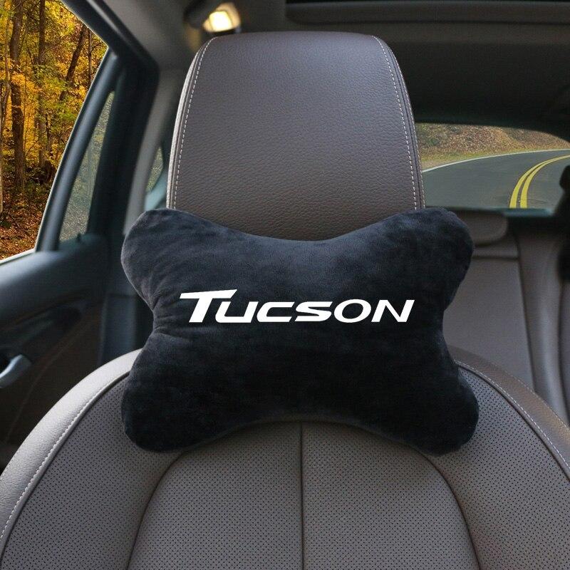Cojín de masaje de descanso del cuello de la cabeza del asiento del coche almohada de memoria espacial para el reposacabezas del cuello del coche para hyundai Tucson 2014-2019 Accesorios 8 unids/set ABS cubierta cromada de manija de puerta Trim etiqueta para Hyundai Tucson IX 35 Ix35 2010, 20112012, 2013, 2014 accesorios de estilo de coche