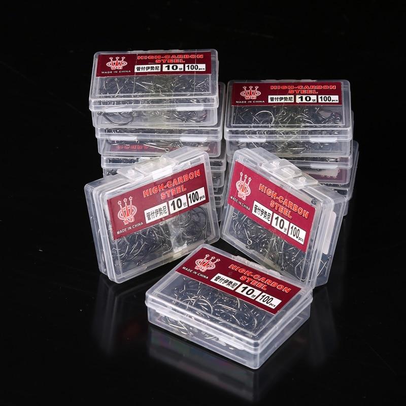 100 шт., рыболовные крючки из высокоуглеродистой стали