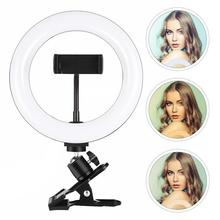 7.9 Inch Ring Light With Phone Clip Dimming Adjustable Supplementary Lamp