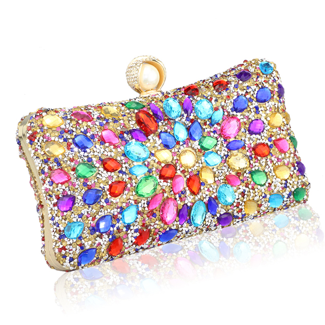 Diamond Crystal Candy Colored Clutch  1