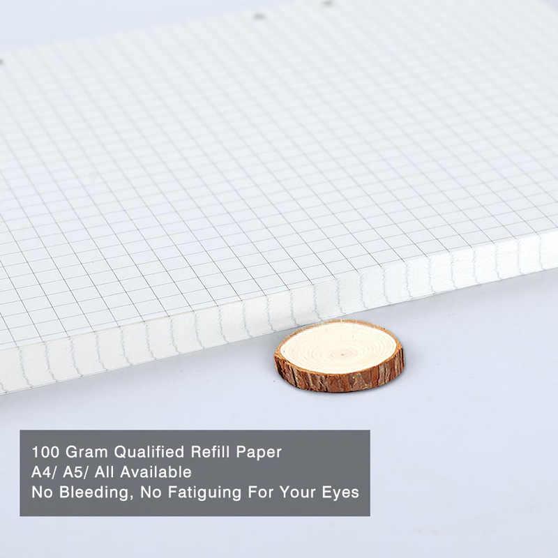 VEESUN A4 หลวมโน้ตบุ๊คกระดาษ Sketchbook หน้าภายในแหวน Binder กระดาษภายในสำหรับเขียน Weekely ทุกวันเดือน