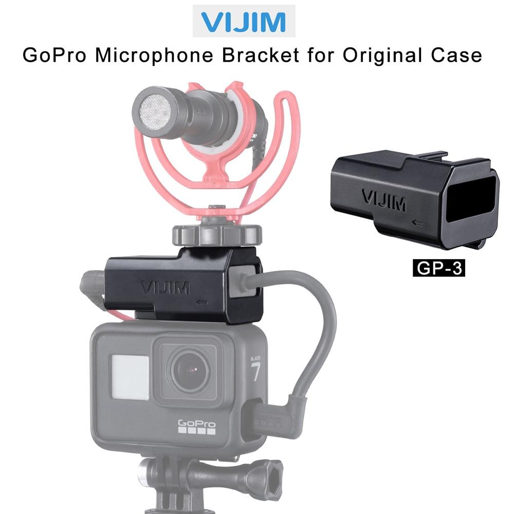 VIJIM GP-3 Quick Release Adapter for Original GoPro case Microphone Bracket Gopro 7/6/5 Accessories