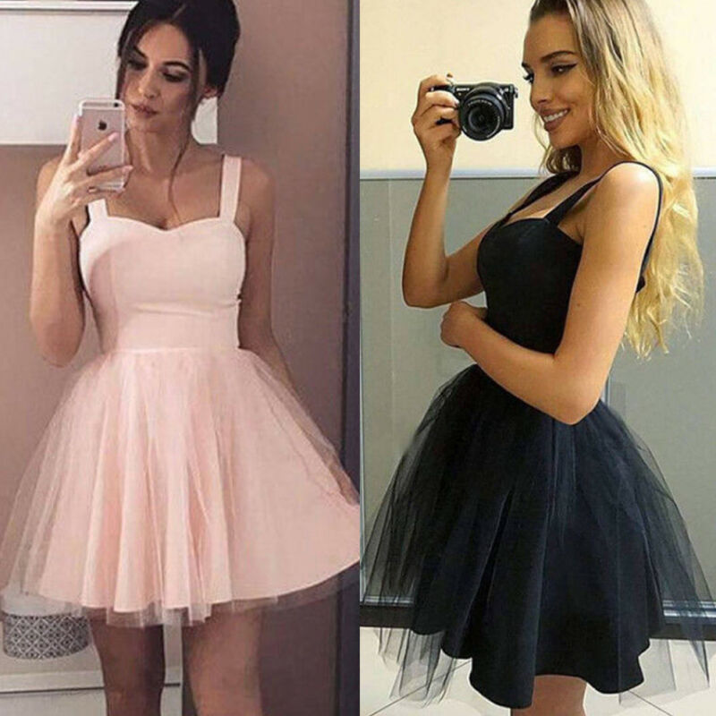 Fashion Women Formal  Short Lace Tulle Dress Summer Prom Country Beach Wedding Guest Party Gown