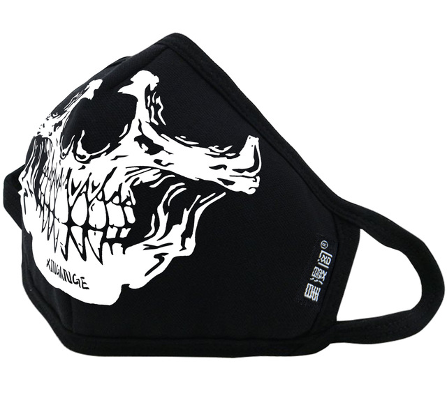 Black Luminous Cotton skull Dustproof Mouth Cover Face Mask Anime Cartoon punk Expression Women Men Face Mouth Masks Couple Mask 2