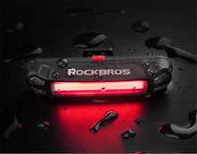 ROCKBROS Waterproof 30 LED Bicycle Rechargeable 8 Hours Rear Taillight  Cycling Bike Fog Safety Warning Red Lamp Tail Light