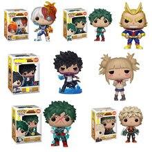 Funko quente pop meu herói academia pvc anime figura de ação 10cm bonecas figurinhas crianças brinquedos para meninas meninos figurinhas