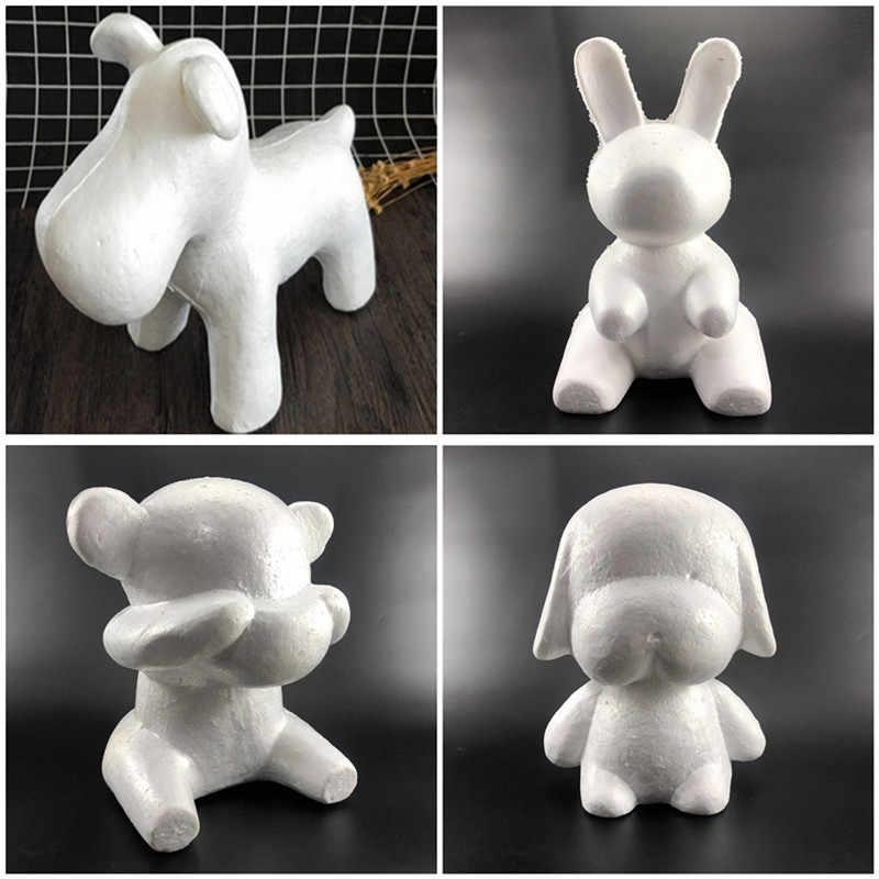 Décoration de mariage saint valentin cadeau savon fleur polystyrène polystyrène mousse blanc chien ours lapin pour bricolage décoration de fête