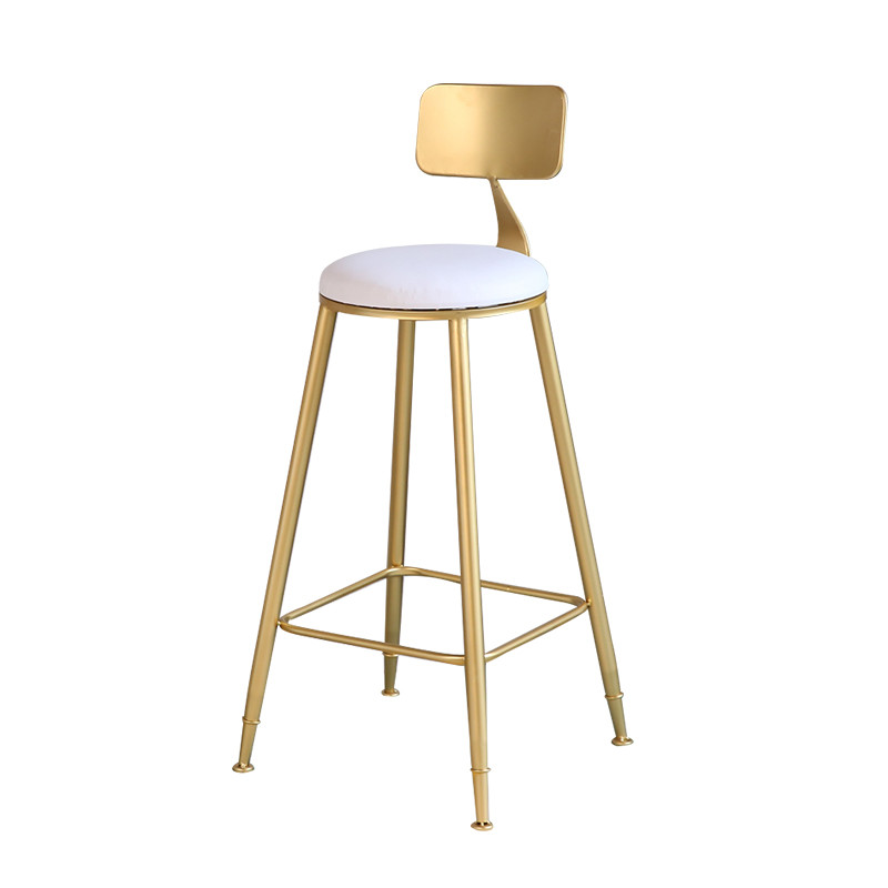 Bar Chair Home High Chair Tea Shop Back Bar Stool Wrought Iron Cafe Small Round Table Nordic Bar Chair