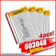 3.7V 900MAh 603048 Lipo Li Polแบตเตอรี่Lithium Polymer Li Ionแบตเตอรี่สำหรับของเล่นDrone MP3 MP4 GPS PSPลำโพงDIY