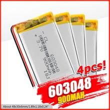 900mAh li pol lipo Battery 3.7V Lithium Rechargeable 603048 Polymer Li ion cell Battery Speaker LED Light Drone Bateria Replace