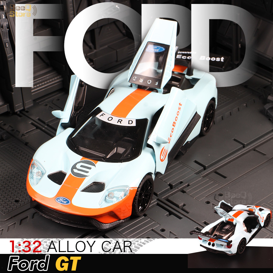 1:32 Ford GT Race Car Alloy Car Model Diecasts & Toy Vehicles 1/32 Car Model With Light & Sound Car Toys For Children