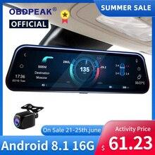 A980 – caméra de tableau de bord intelligente avec rétroviseur, 10 pouces, 4G, Android 8.1, DVR, 1080P, double objectif, enregistreur vidéo, GPS, WIFI