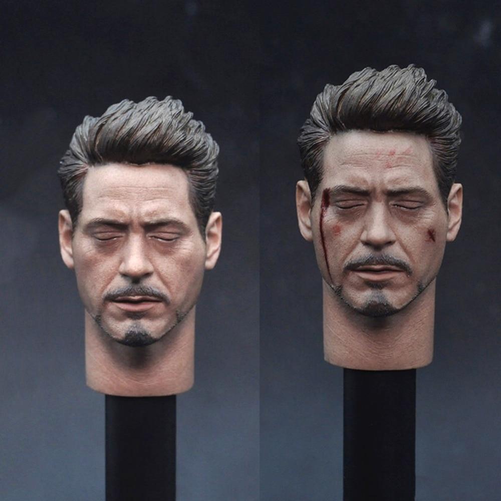 1//6 Iron Man Tony Cartoon Ver Head Sculpt With MK47 Glassess Fit 12/'/' Body