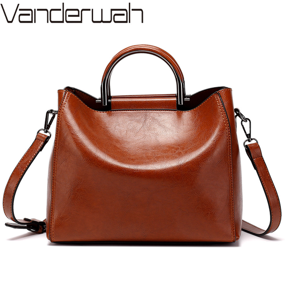 Women Vintage Leather Handbags For Woman Shoulder Bag Designer High Quality Messenger Crossbody Bags 2019 Ladies Luxury Hand Bag
