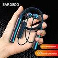 EARDECO 80 Stunden Ausdauer Bluetooth Kopfhörer Bass Drahtlose Kopfhörer mit Mic Stereo Neckband Kopfhörer Sport Headset TF Karte