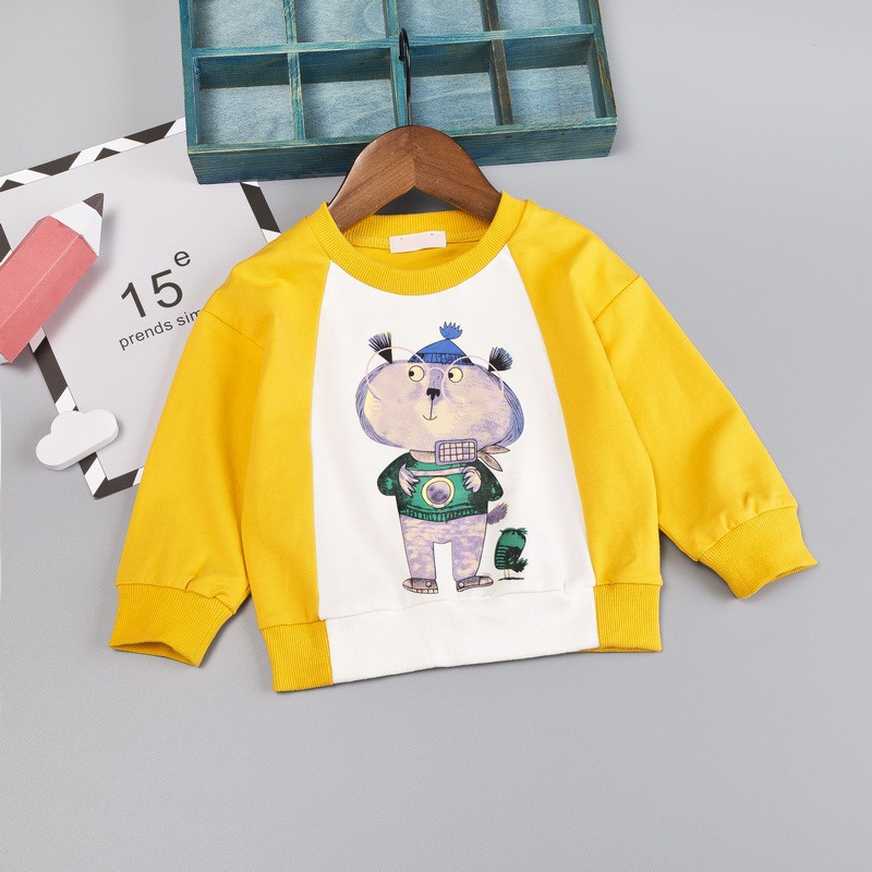 Sweatshirts Pullover Newborn Girls Baby Boys Cartoon Soft Cotton Casual 6-48M Tops Long-Sleeve