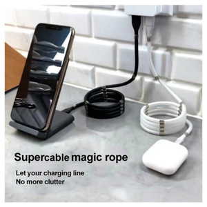 Image 2 - Magic Rope Cable for iPhone Samsung Hauwei Xiaomi LG Magnetic Automatically Retractable Magic Rope Data Cable Micro USB Type C