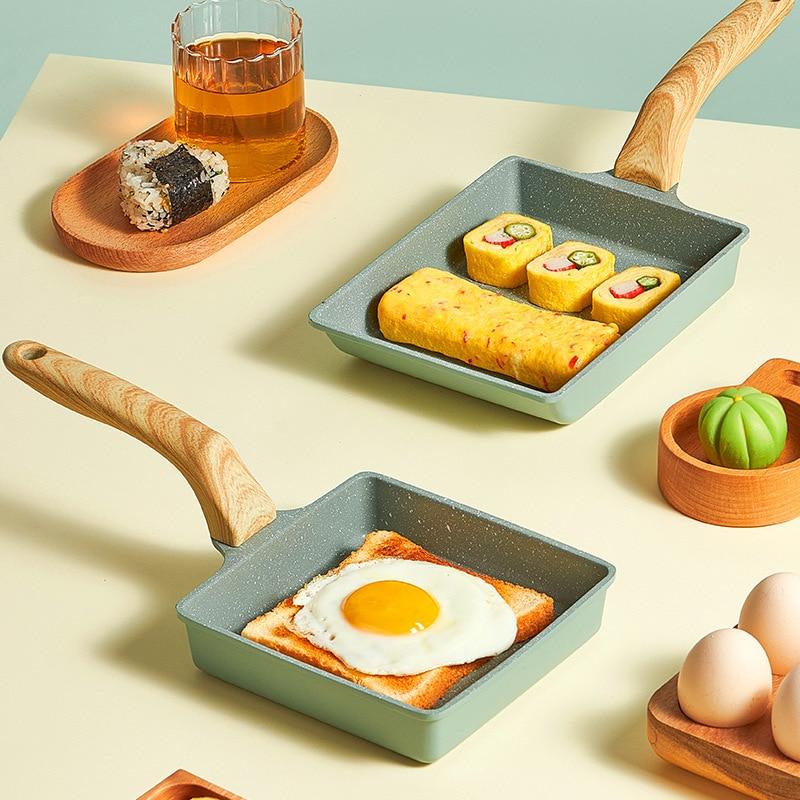 Japanese Frying Pan Scrambled Eggs Breakfast Pan Anti-Scald Treatment