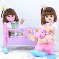 Muñecas para niñas, muñecas para bebés de 39cm, simulación bebés muñecas reborn de silicona suave
