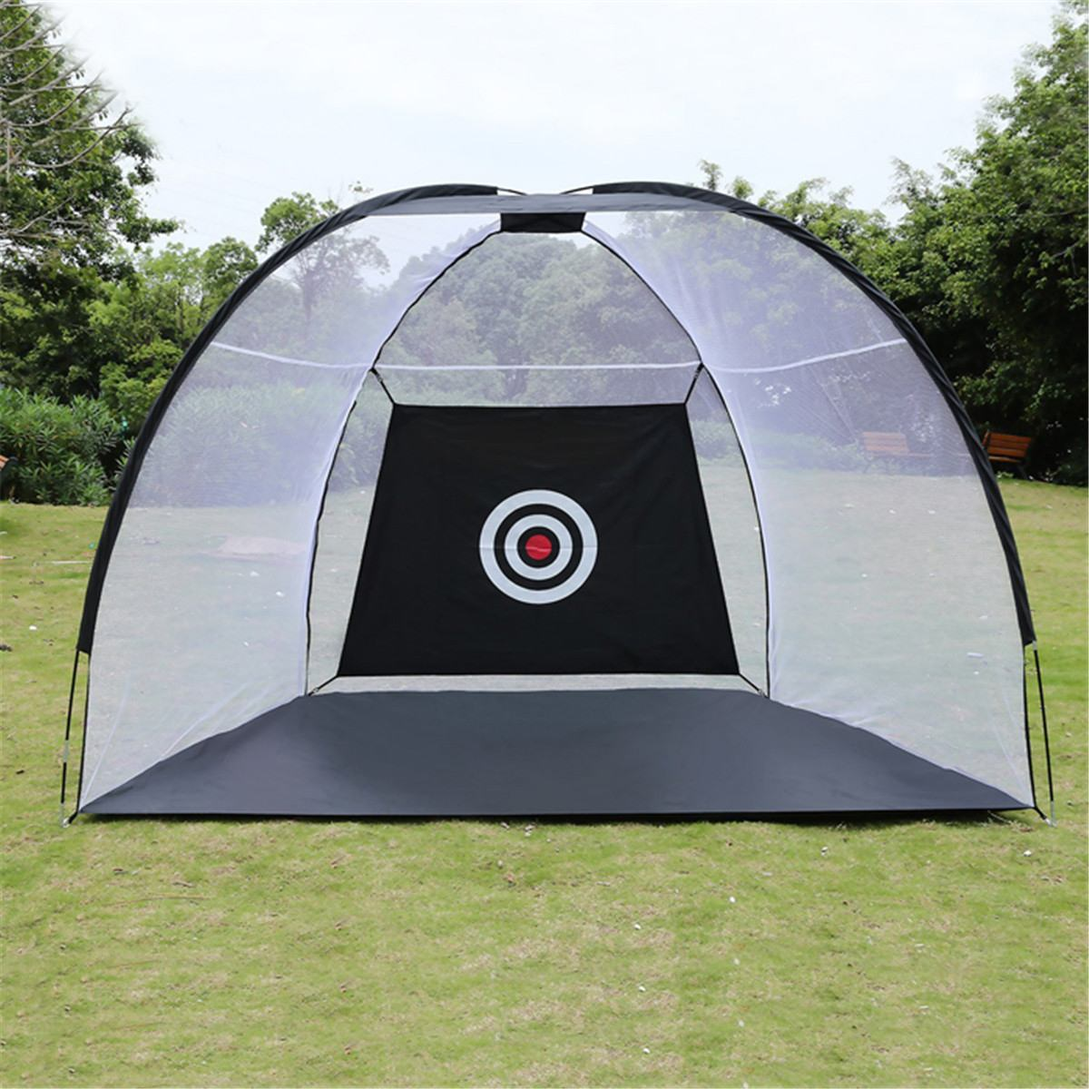Black Golf Training Adis Foldable Golf Hitting Cage Garden Grassland Golf Training Practice Net Sport Golf Exercise Equipment