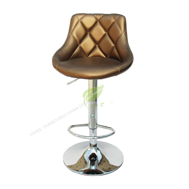 Modern Bar Stool Iron Bar Chair Stool Seat Bar Furniture Beauty Salon Furniture Dotomy European Style High Stool Rotate