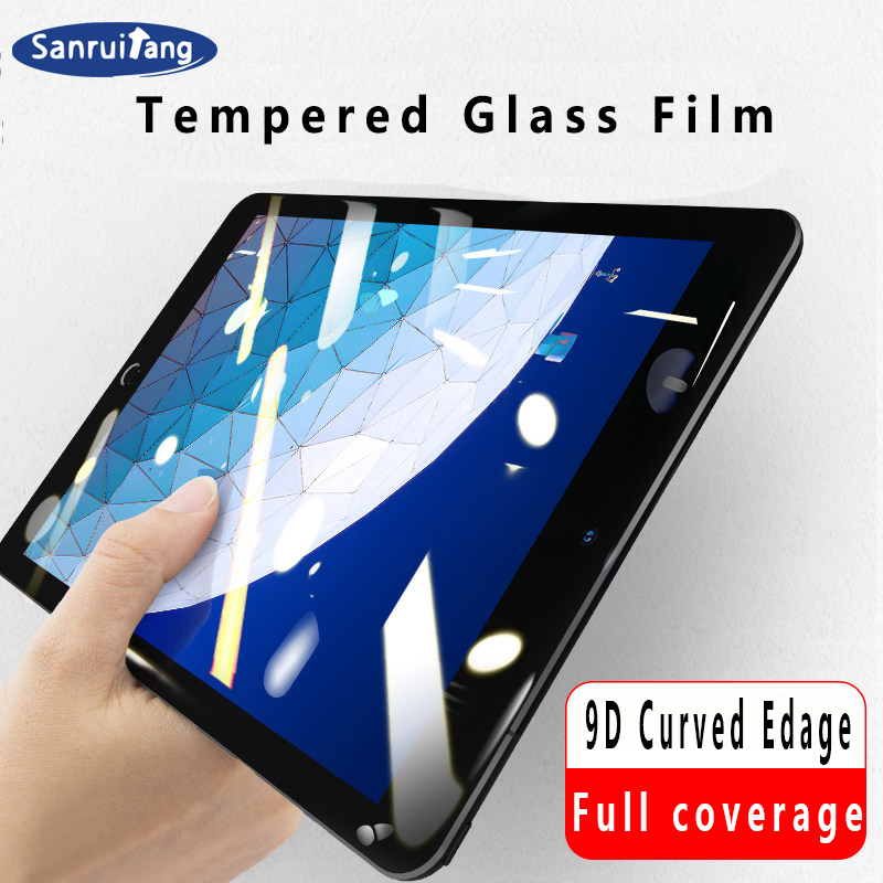 9D Curved Edge Tempered Glass For IPad Pro 11 2020 10.5 Screen Protector For IPad 10.2 2019 2017 2018 9.7 Air 1 2 3 Mini 4 5