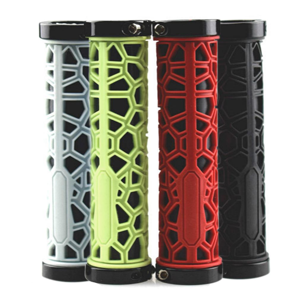 2Pcs MTB <font><b>bike</b></font> grips Cycling Mountain Bicycle Grips Scooter Handle <font><b>Bar</b></font> <font><b>Rubber</b></font> Soft <font><b>End</b></font> Handle Sets Cycling Bicycle Parts image