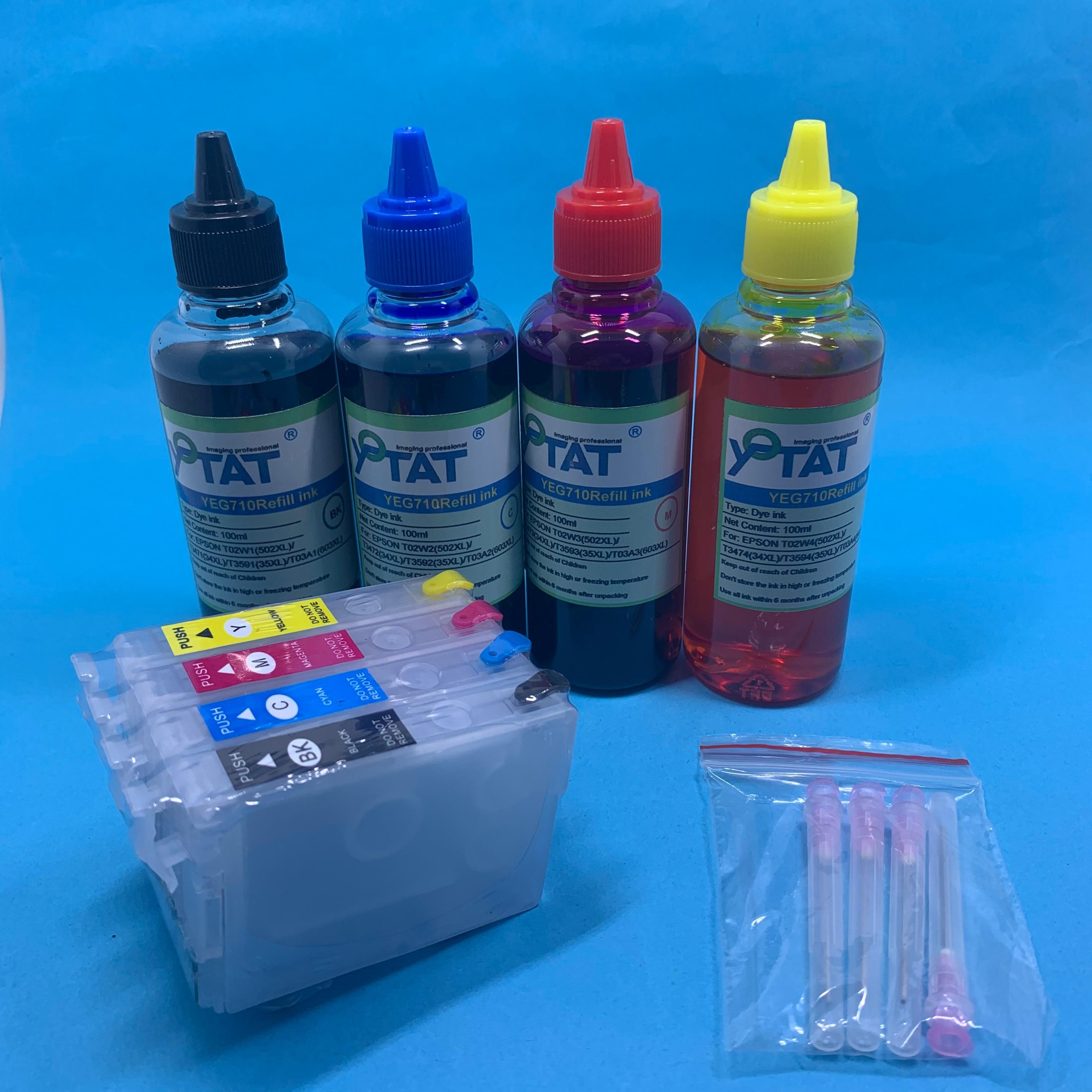 YOTAT T603 Refillable 603XL Ink Cartridge T03A1-T03A4 For Epson XP-2100 XP-2105 XP-3100 XP-3105 XP-4100 XP-4105 WF-2810 WF-2830