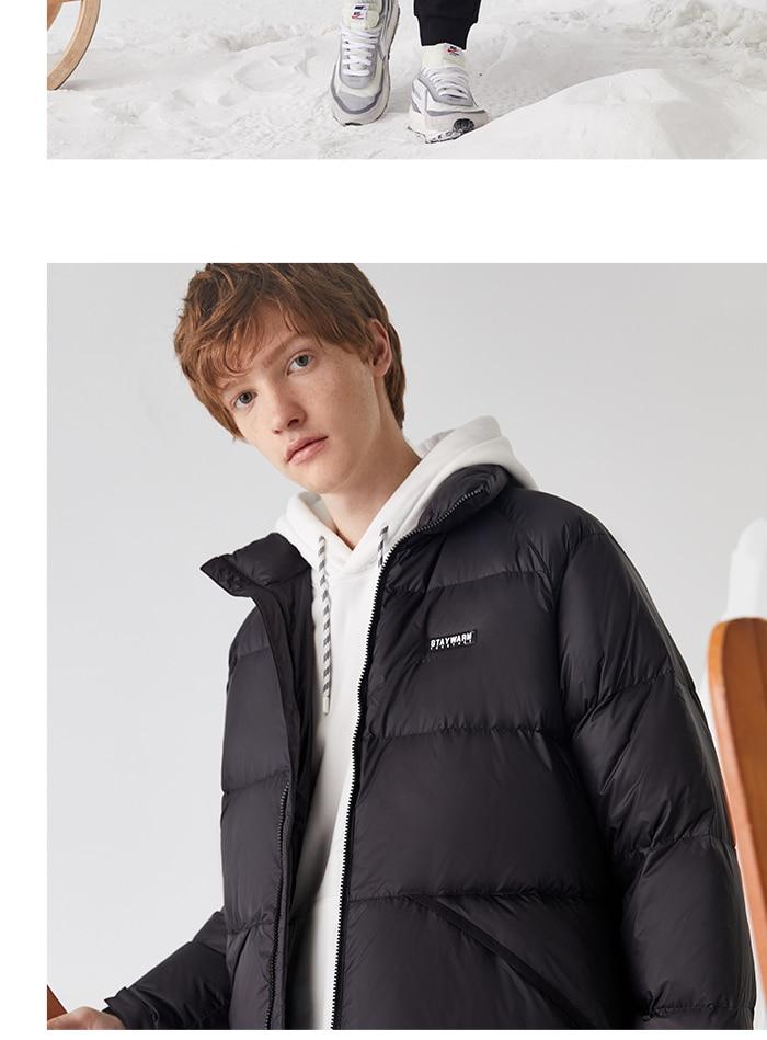 Semir para baixo jaqueta masculina inverno 2019