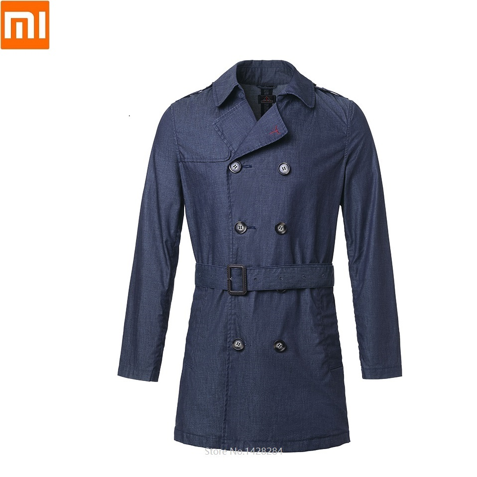 Xiaomi NEW DMN Man Classic Rainproof Cowboy Windbreaker Male Spring Autumn Loose Denim Jacket Coat Leisure Outerwear