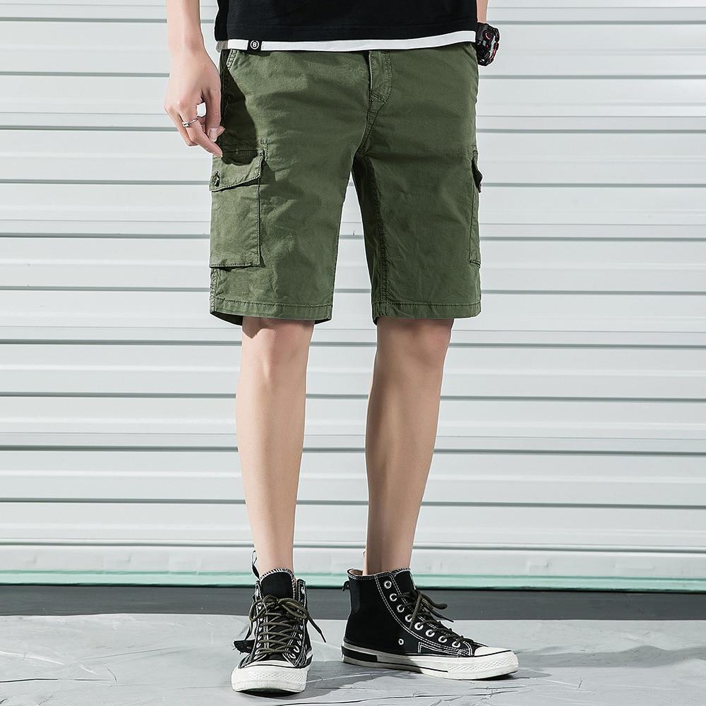 Summer Hot Selling Plus-sized Menswear Workwear Shorts Multi-pocket Trousers Bermuda Shorts Fashion Youth Athletic Pants Pure Co