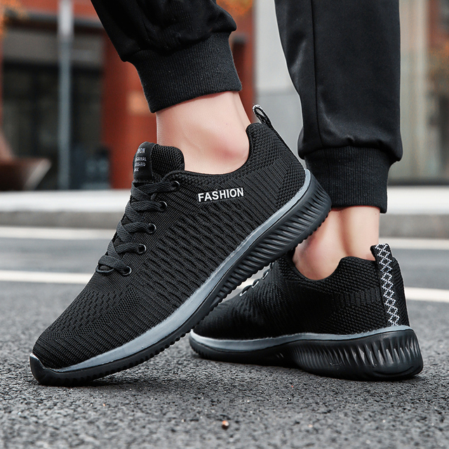 Shoes Lac-up Men Shoes Lightweight Comfortable Breathable Walking Sneakers Tenis masculino Zapatillas Hombre