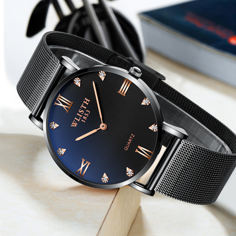 2019 new design IPS plating men 39 s thin case fashion student men 39 s watch waterproof factory supply price quartz wrist watch in Quartz Watches from Watches