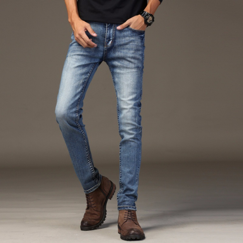 Jeans Men's Elasticity Trend Youth Slim Fit Do The Old Cowboy Trousers