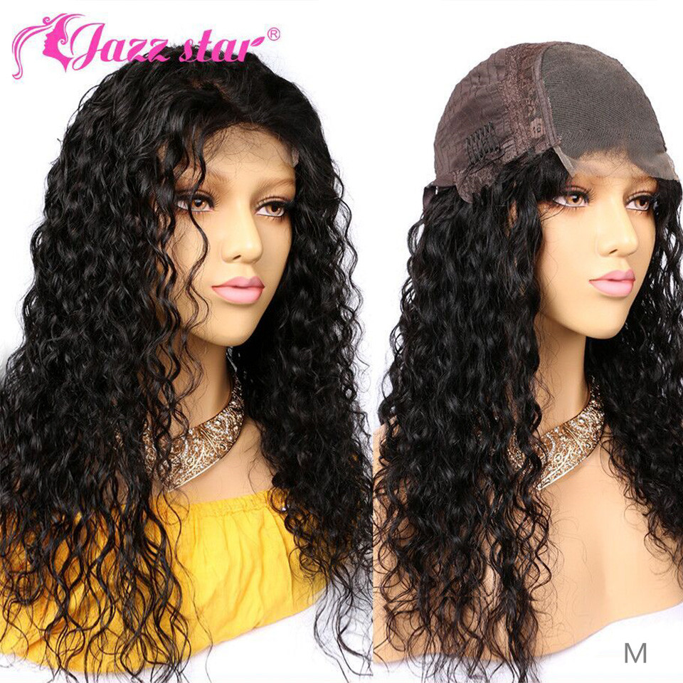 Brazilian Wig 4*4 Human Hair Wigs For Women Natural Wave Lace Closure Wig With Baby Hair Jazz Star Lace Wig Non-Remy150% Density