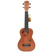 23 inch Ukulele Concert Ukulele 23 Inch 17 Frets Mahogany 4 String Acoustic Beginner Hawai Guitar suerte adela ukulele solid mahogany plywood back and side 4 string guitar soprano concert tenor with bag