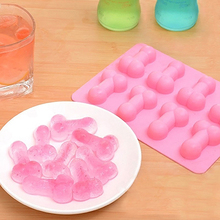 1pc Willy Silicone Penis Ice Cube Tray Molds Chocolate Jelly Pudding Mould Night Party Fondant Cake Mold Drop Shipping 15 cavity silicone drink ice cube pudding jelly cake chocolate mold mould tray set of 2 460001