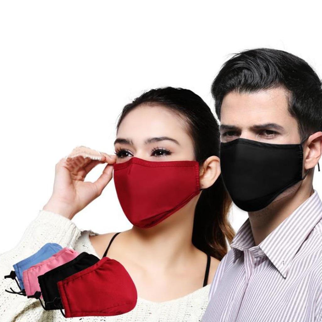 Модный Женский Мужской Хлопковый шарф с активированным углем, моющийся многоразовый чехол для рта, для защиты лица, Mascarilla masque
